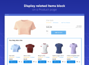 display upselling products wherever you need, including relevant locations on product pages