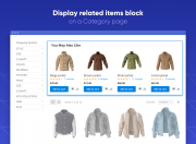 display cross-selling products wherever you need, including catalog pages