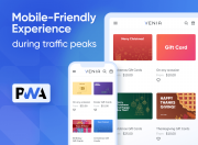 Mobile-friendly gift card page