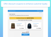 display a built in coupon abandoned cart email