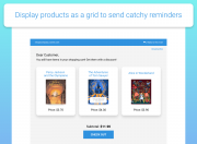 display products as a grid abandoned cart email