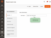 role name 1 advanced permissions