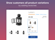 enhance product page with swatches