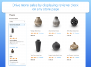 display reviews block on any store page
