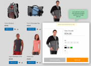 ajax shopping cartproduct options in a popup
