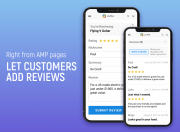 let customers add reviews from amp pages