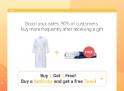 the live example: the 'auto add promo items with products' action