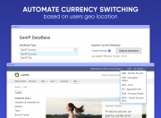 automate currency switching based on users geolocation