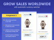 grow sales worldwide with the automatic currency switcher
