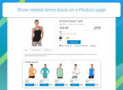 show block on a product page