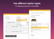 enrich bundle's presentation with different options types