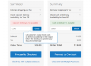 check cash on delivery availability