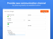 easily add any messenger widget to your store