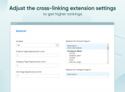 adjust the cross-linking extension settings to get higher rankings
