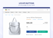 display custom buttons on any page of your store