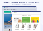 redirect shoppers to particular store pages