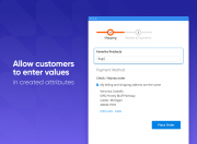 provide customers with the ability to enter values