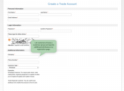 show customer attributes on a registration page