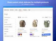 display various custom stock statuses on category pages