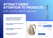 attract users attention to products with catchy statuses