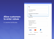 provide customers with a convenient value entering