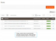 create custom rules to automatically manage customer groups