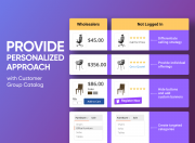 build an individual pricing strategy with customer group catalog