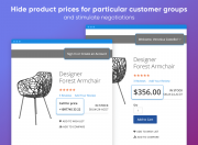 replace prices with custom text