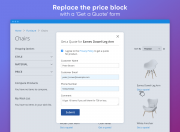 replace prices with a 'get a quote' button