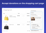 add optional donation fields to the shopping cart page