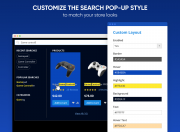 customize the search pop-up style