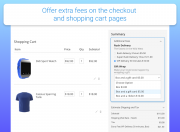 show fee blocks on the checkout and shopping cart pages