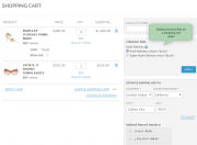 fees block on the shopping cart page