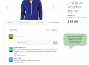 add reviews on the product pages via facebook