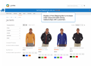 free shipping bar on category pages