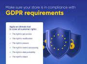 make sure your store is compliant with gdpr requirements