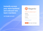 instantly access your store backend