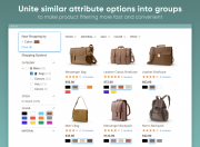 combine similar options of any attribute