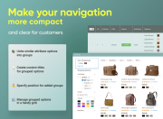 make your store navigation more convenient and compact