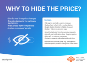 effectively manage price display according to your business needs