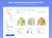 use vertical and horizontal blocks in your store navigation