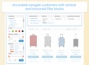 accurately navigate customers with vertical and horizontal filter blocks