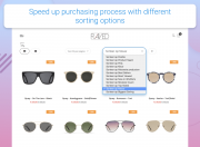 improved sorting speed up purchasing process with different sorting options
