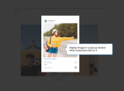 let customers engage with your website by showing pop-ups or redirect them to an instagram page