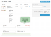 display custom registration fields on the shopping cart page