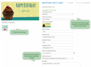 specify all necessary gift card options before adding it to cart