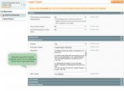 display settings of loyalty program terms