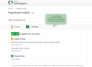 improve your score in google pagespeed insights