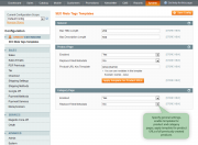 specify general settings and apply templates for product urls of all previously created products.