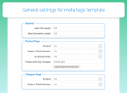 specify general extension settings